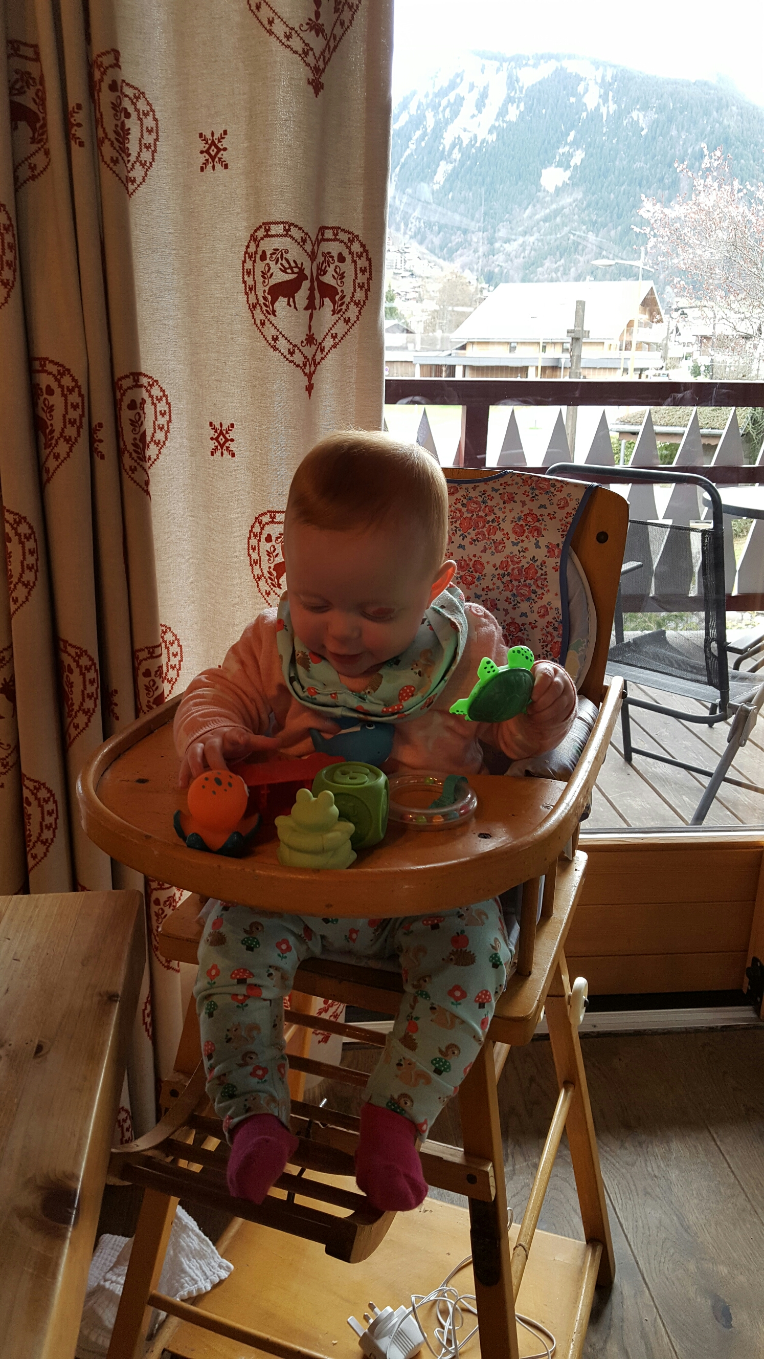 It was so handy to have a highchair waiting for us