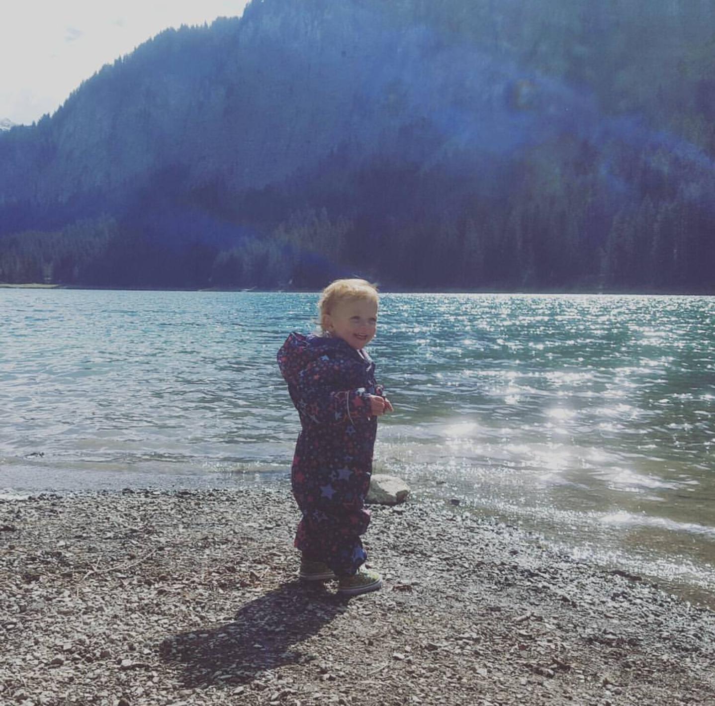 Enjoying exploring the beautiful lake
