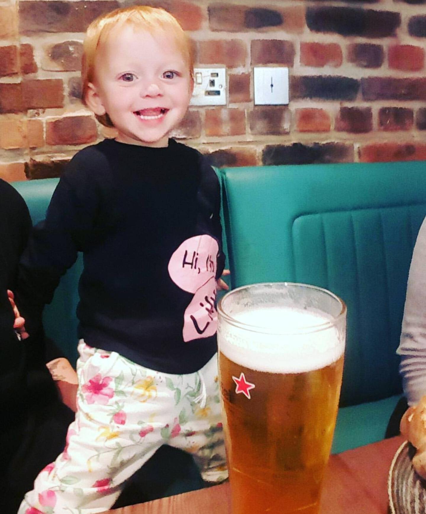 Cheeky pint at the bar...!