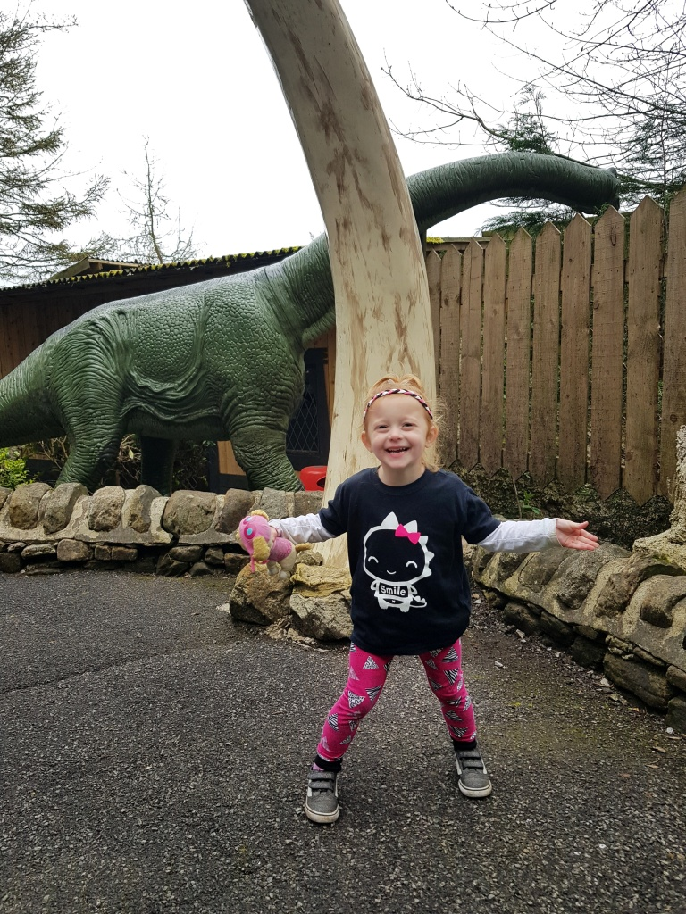 Enjoying the dinosaurs!