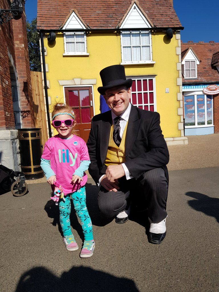 Meeting the Fat Controller at Thomas Land