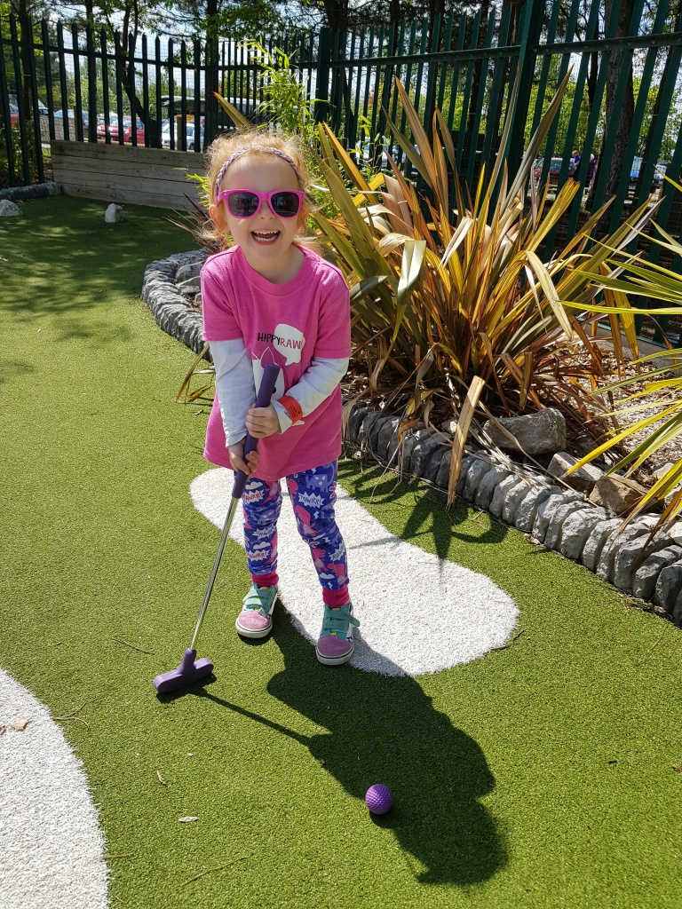 Mini golf at Nottingham Water Sports Centre