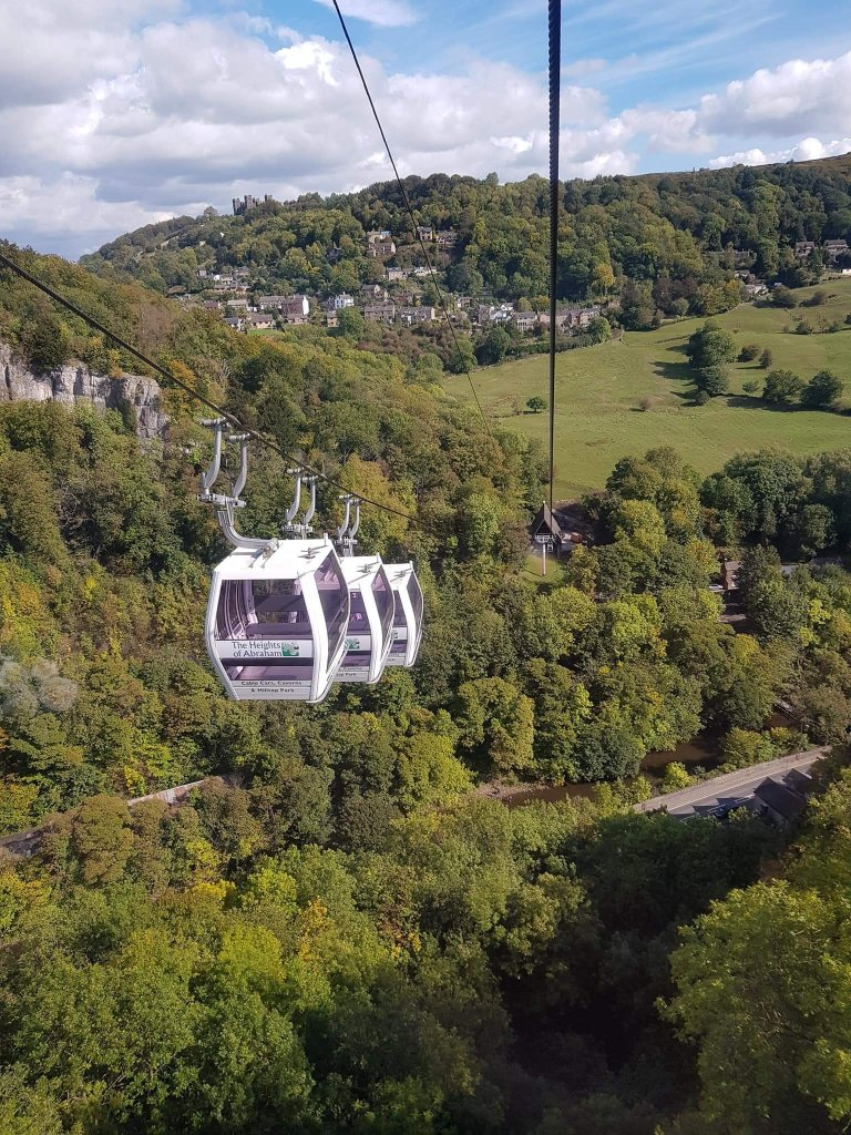 The cable cars at the Heights of Abraham