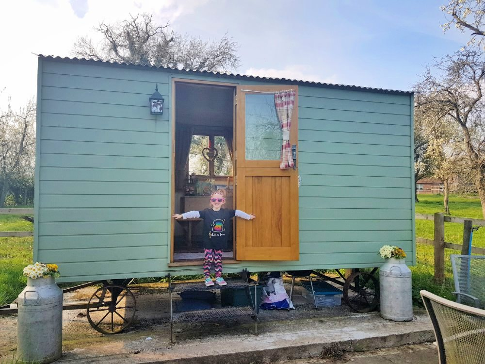 Our beautiful little shepherds' hut