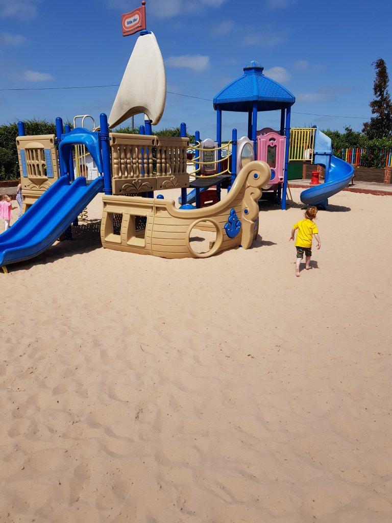 Exploring the sand play areas