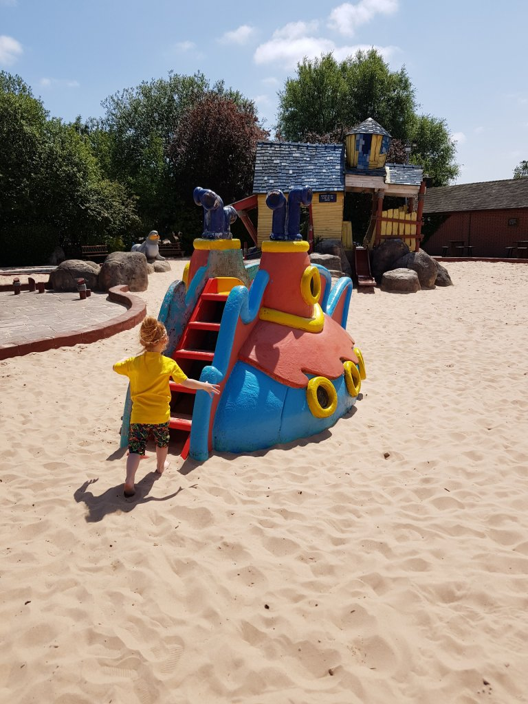 More sand play at Captain Sandy's Cove!