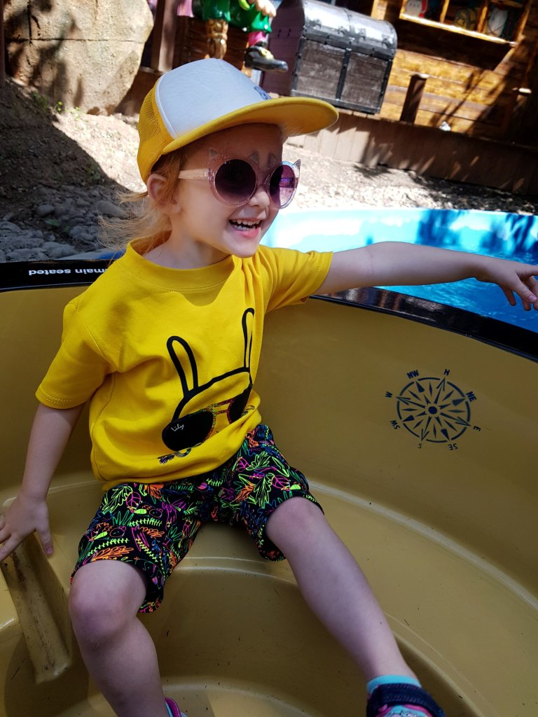 Enjoying the pirate boats - just watch out for the water jets!