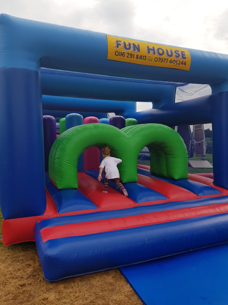 The inflatables are here all summer - £3 for 10mins or £5 an hour