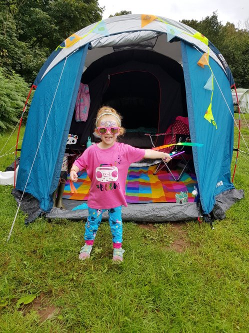 This one loved her festival camping adventure