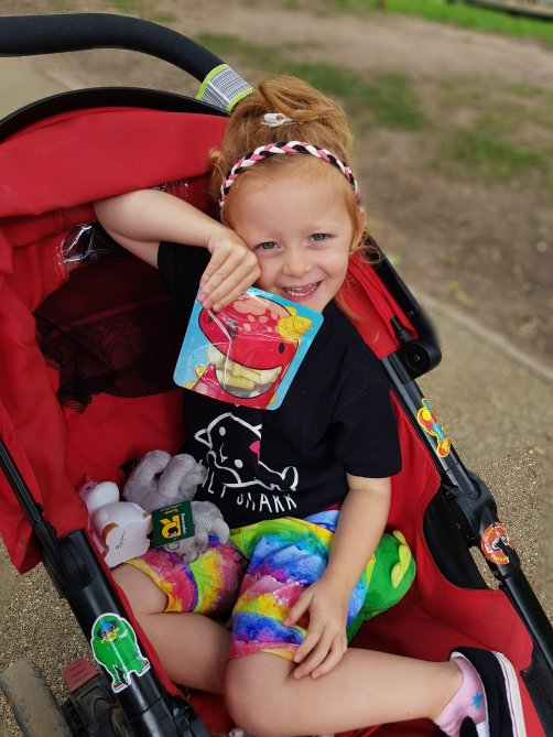 Always prepared with a snack! (Nom Nom Kids pouches a staple item for our adventures!)