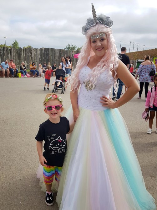 Meeting the Unicorn Princess at Twycross Zoo