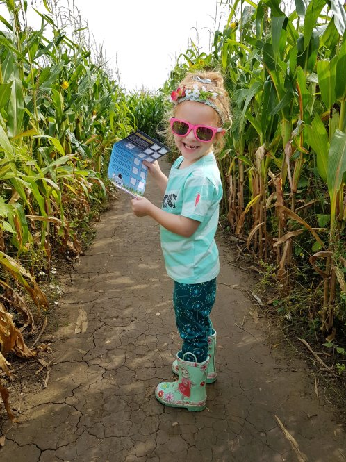 She insisted on leading the way around Wistow Maze!