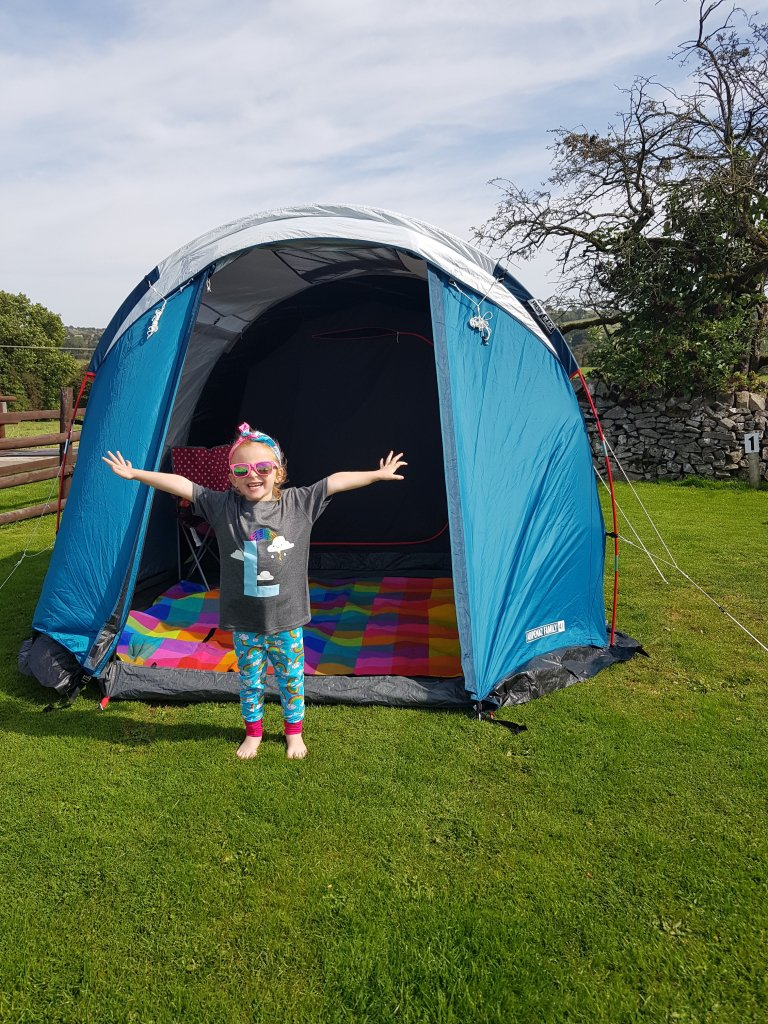 Our pitch at Middlehills Farm campsite