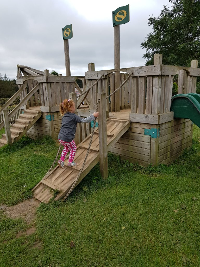 The outdoor play area for smaller kids