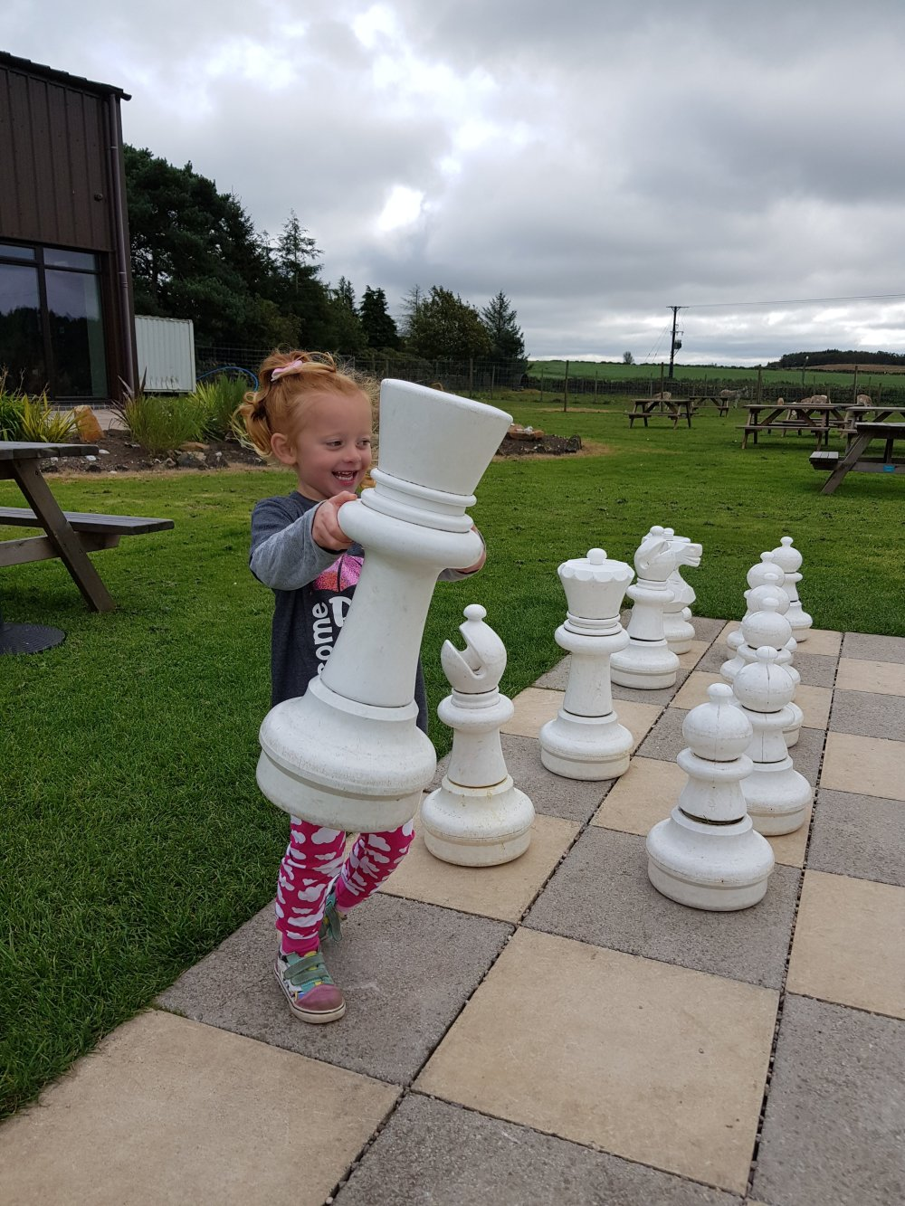 She has a few things to learn about chess...