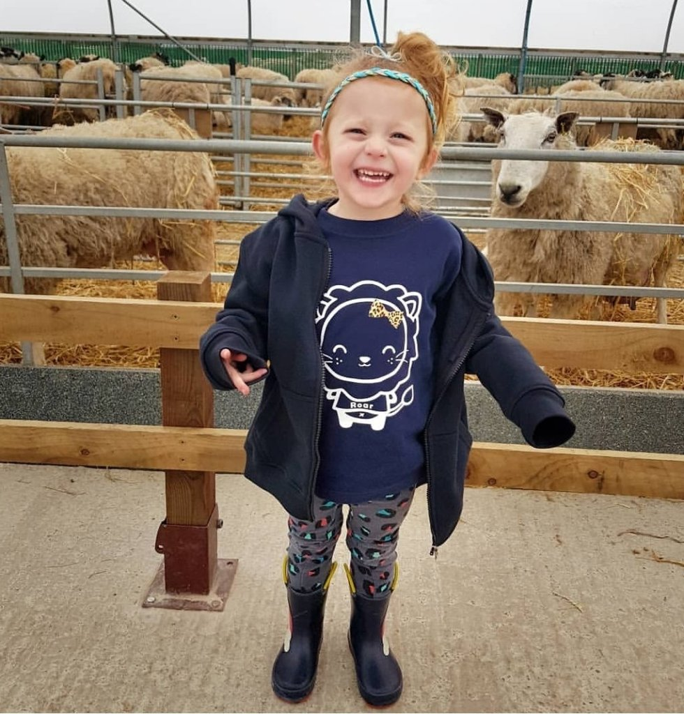 She loved meeting all the sheep in the maternity wing with the lambs in the spring