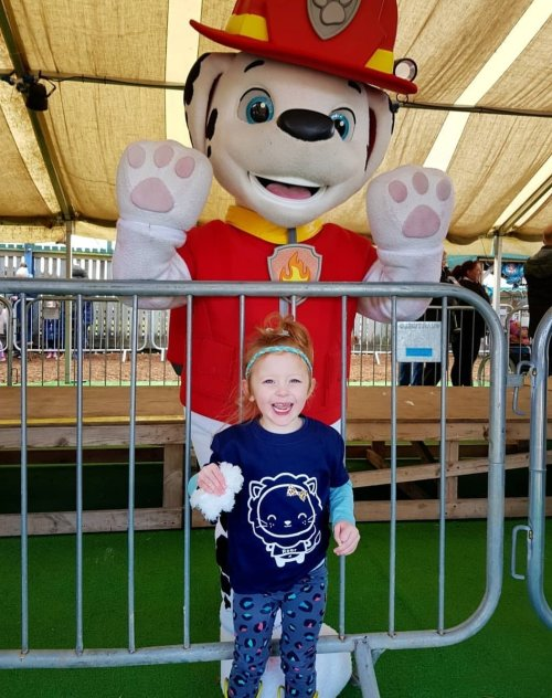 Meeting Marshall at the Paw Patrol event