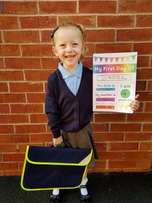 The obligatory First Day photo. I couldn't help but share! Sign from LittleBooLearning!