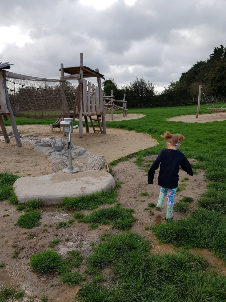 The huge outdoor play area has so much to do!