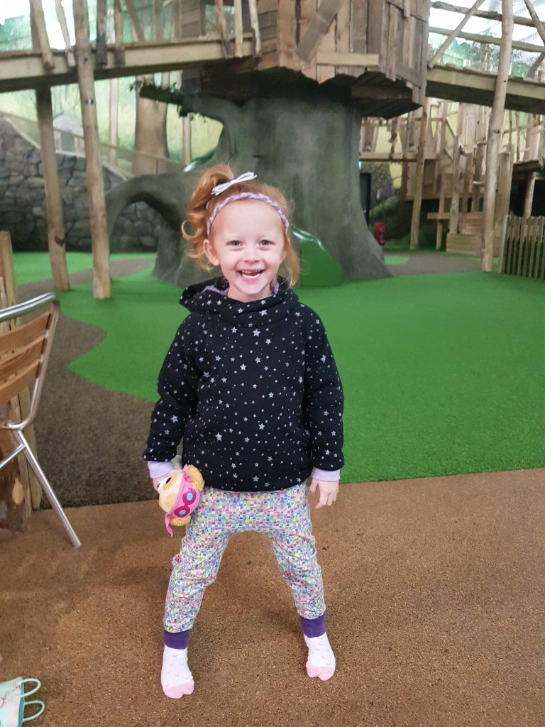The face when you have a giant indoor treetop play area to yourself :)
