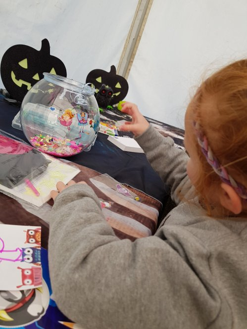 She loves crafts of all kinds, but this was just a fantastic setup and so different for a day out