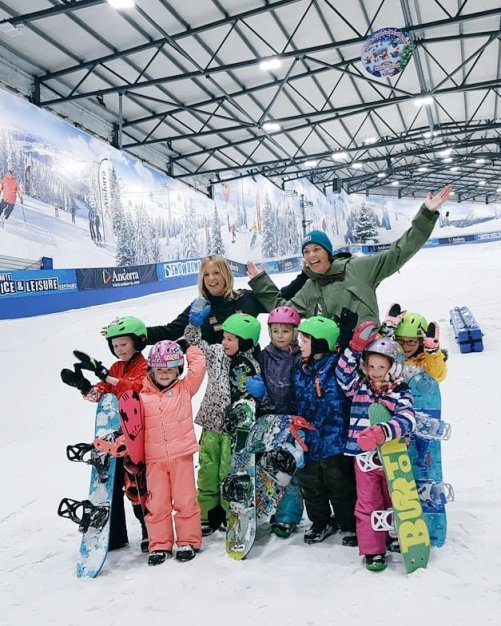 MINT Snowboarding coaching session at Tamworth Snowdome with Jenny Jones