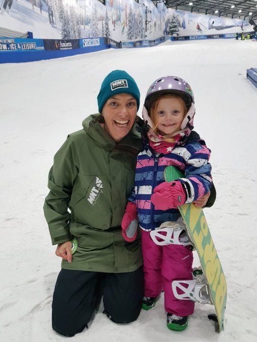 Lily with Tammy from MINT at Tamworth Snowdome