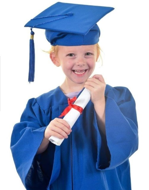 Graduation from preschool was probably harder than starting school!