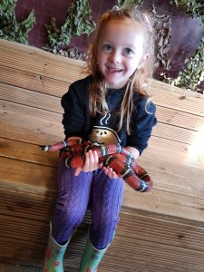 The snakes were definitely her highlight! (Not available in the gift shop!!;)!)