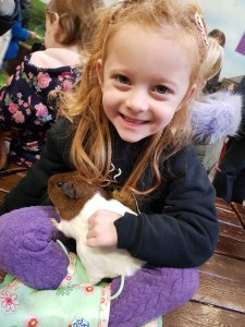 She also wanted to take the guinea pig home!!