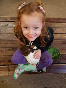 Happiness is cuddles with a guinea pig!