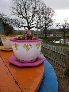 Enjoying the teacups ride!