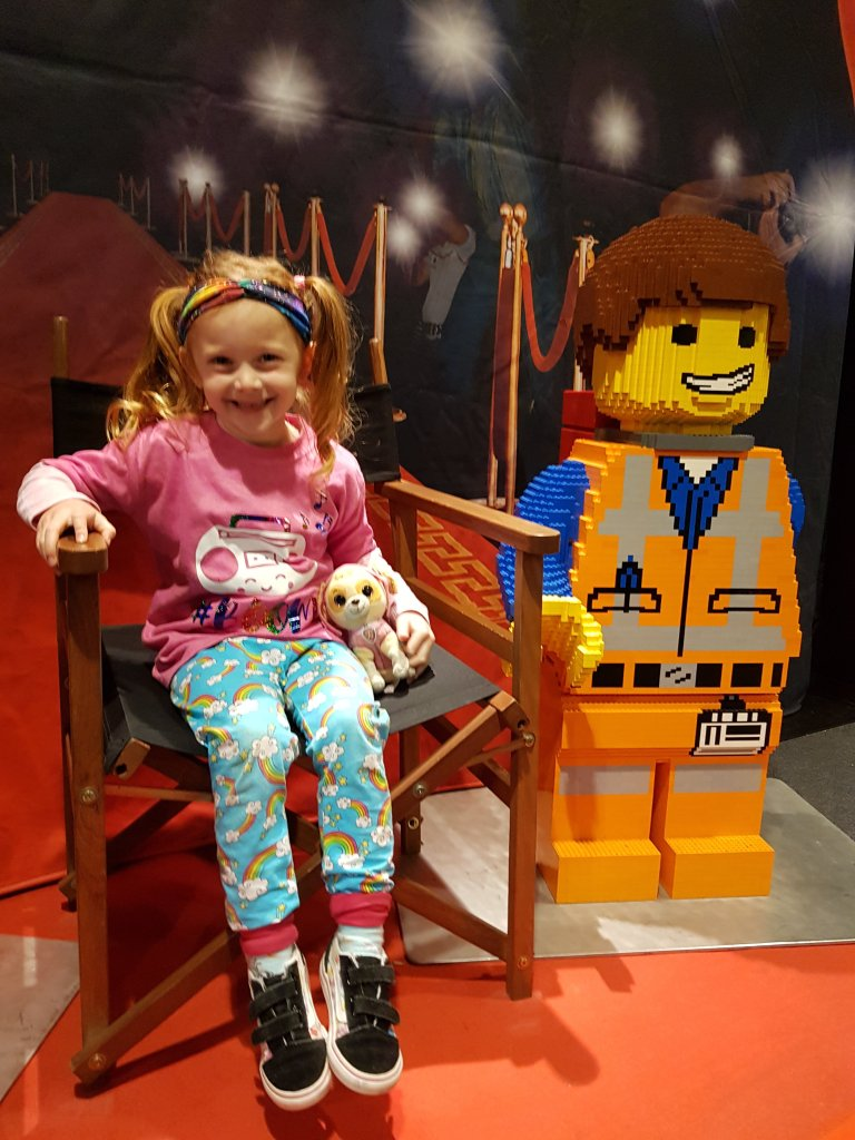 Making new friends at the Brickman Experience!