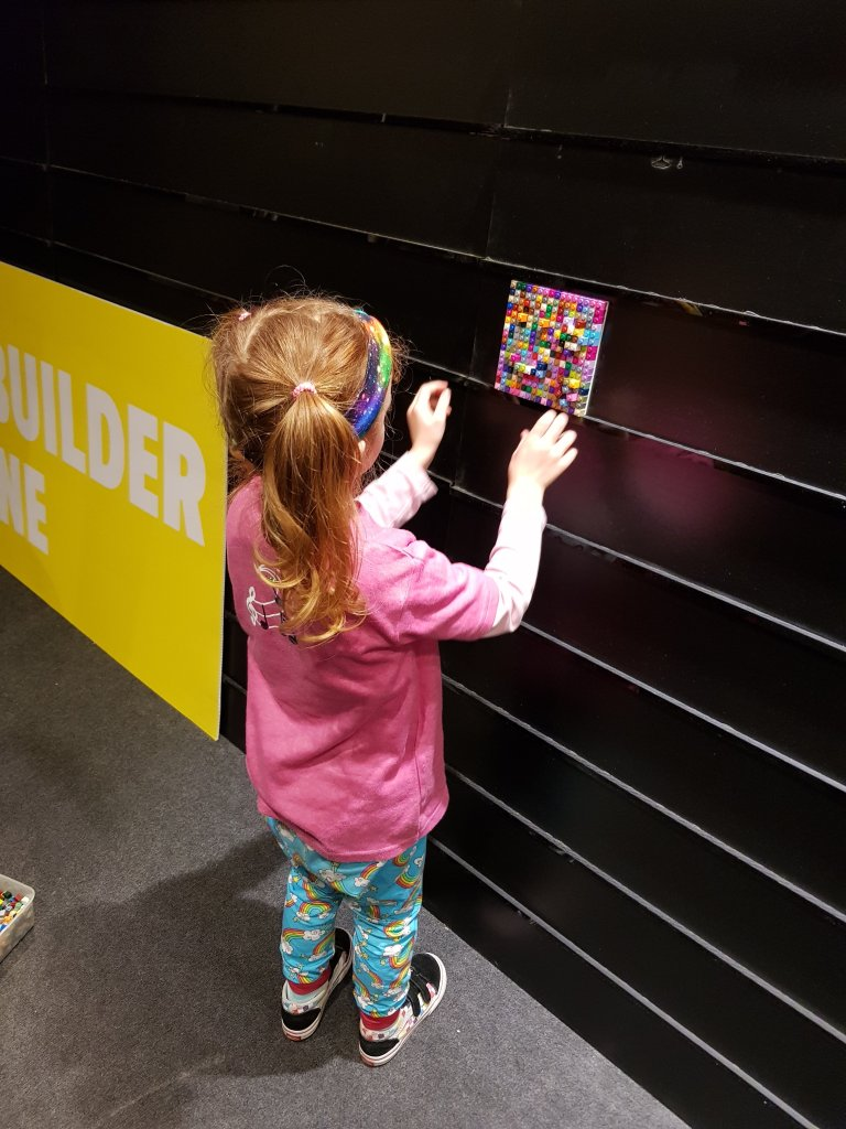 Putting her own masterpiece on display!