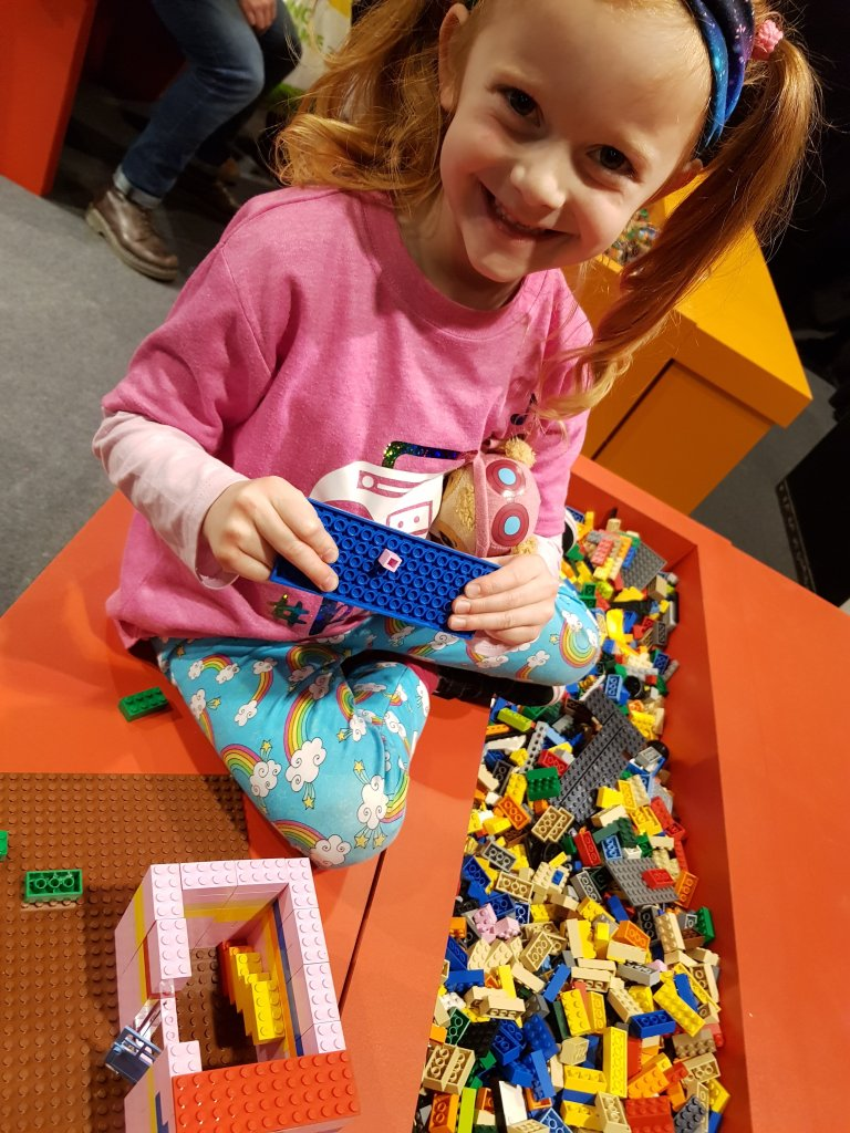 She loved the LEGO building areas