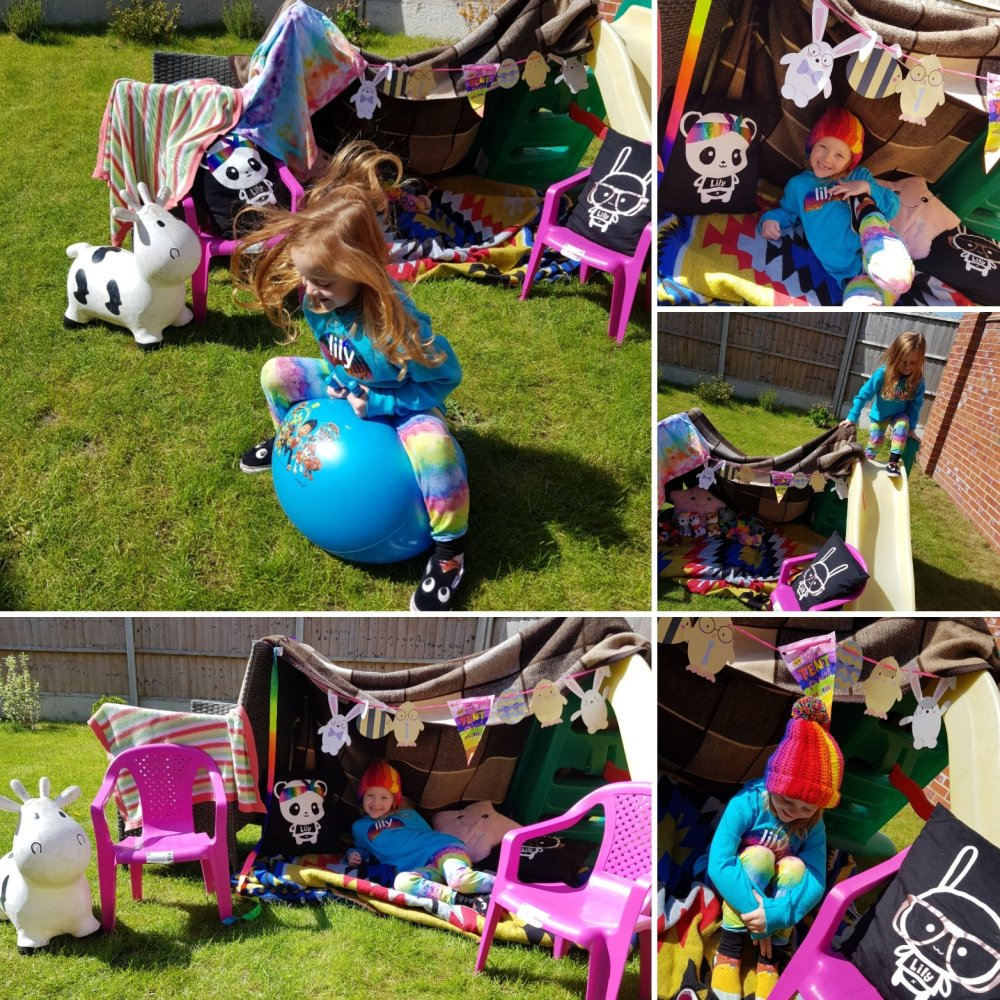 Big Little Tent Festival 2020 - tent not essential - why not make your own den?