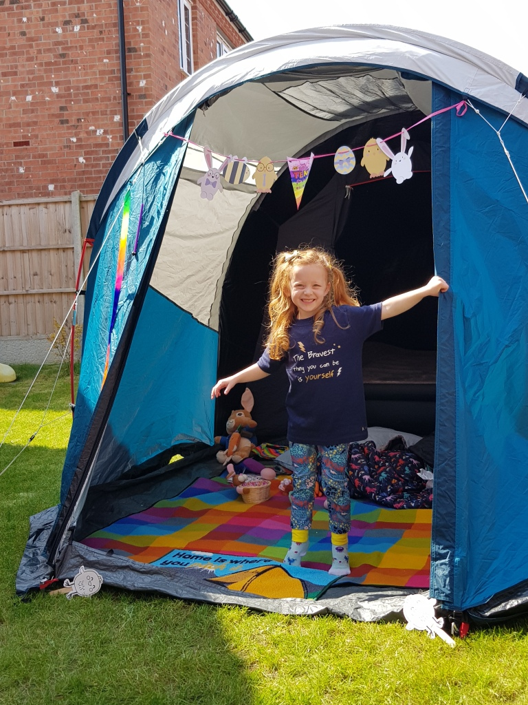 Celebrating the Big Little Tent Festival in 2020 - bunting included!