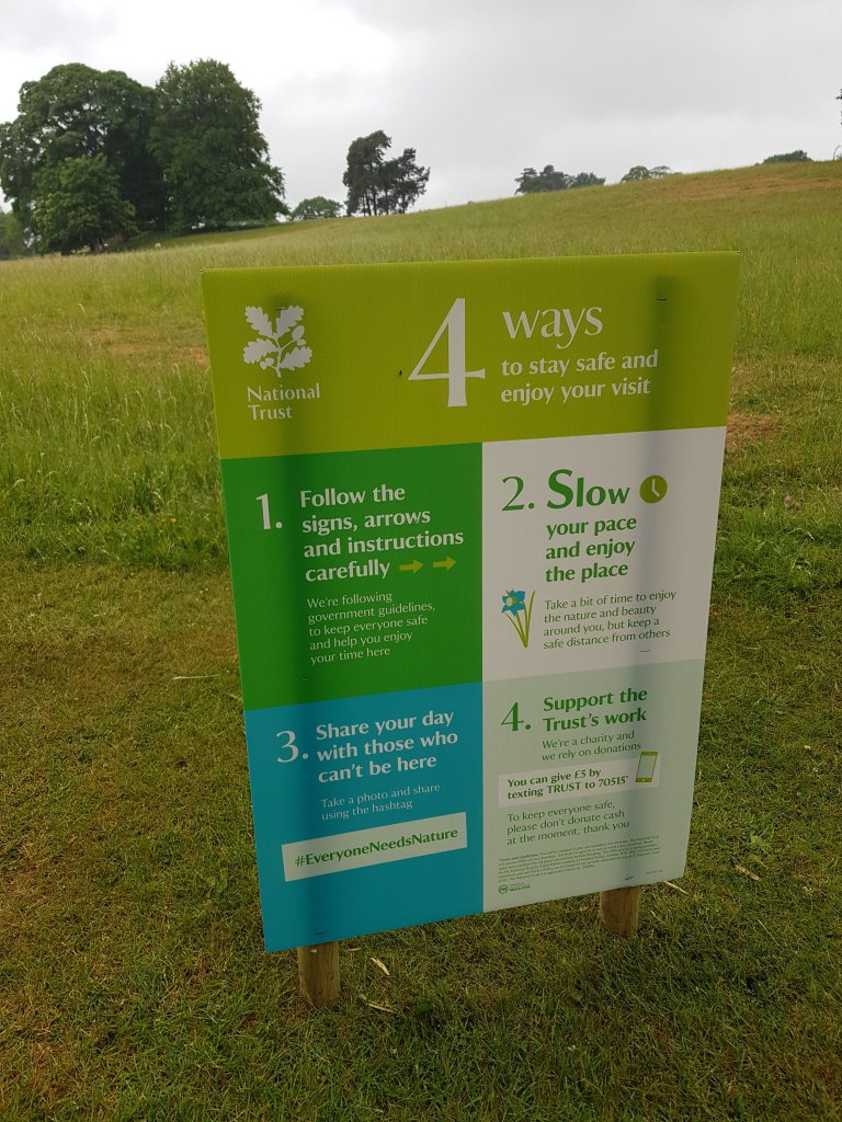 Some lovely signs to help at Calke Abbey