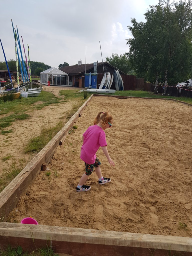There are two other large sandpits as well as the beach areas