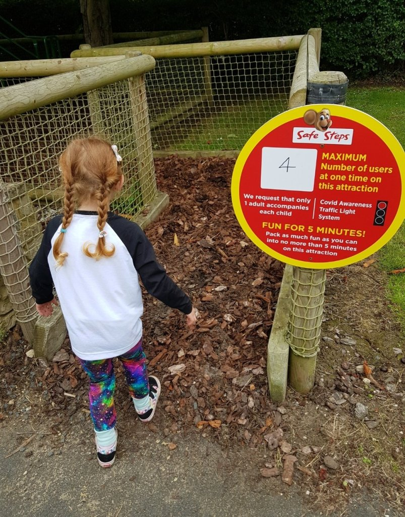 There are signs around the park including limiting numbers on the play areas
