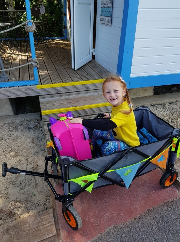 We recommend taking a trailer or pushchair to transport your things from the car park