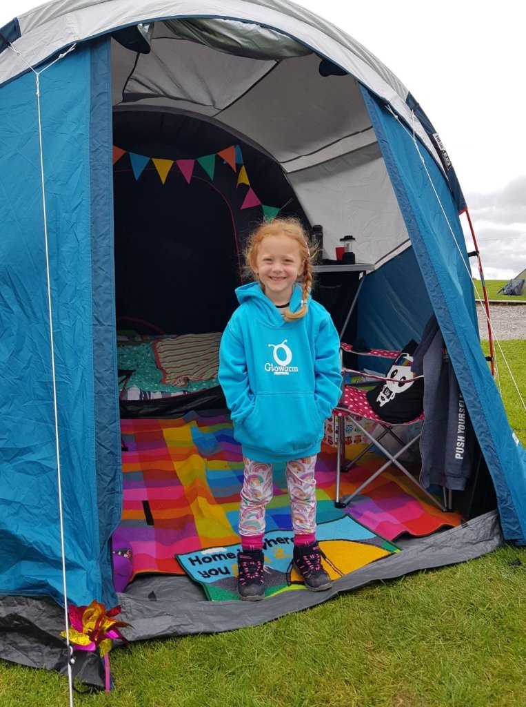 Lily had a great time on the campsite and slept so well!