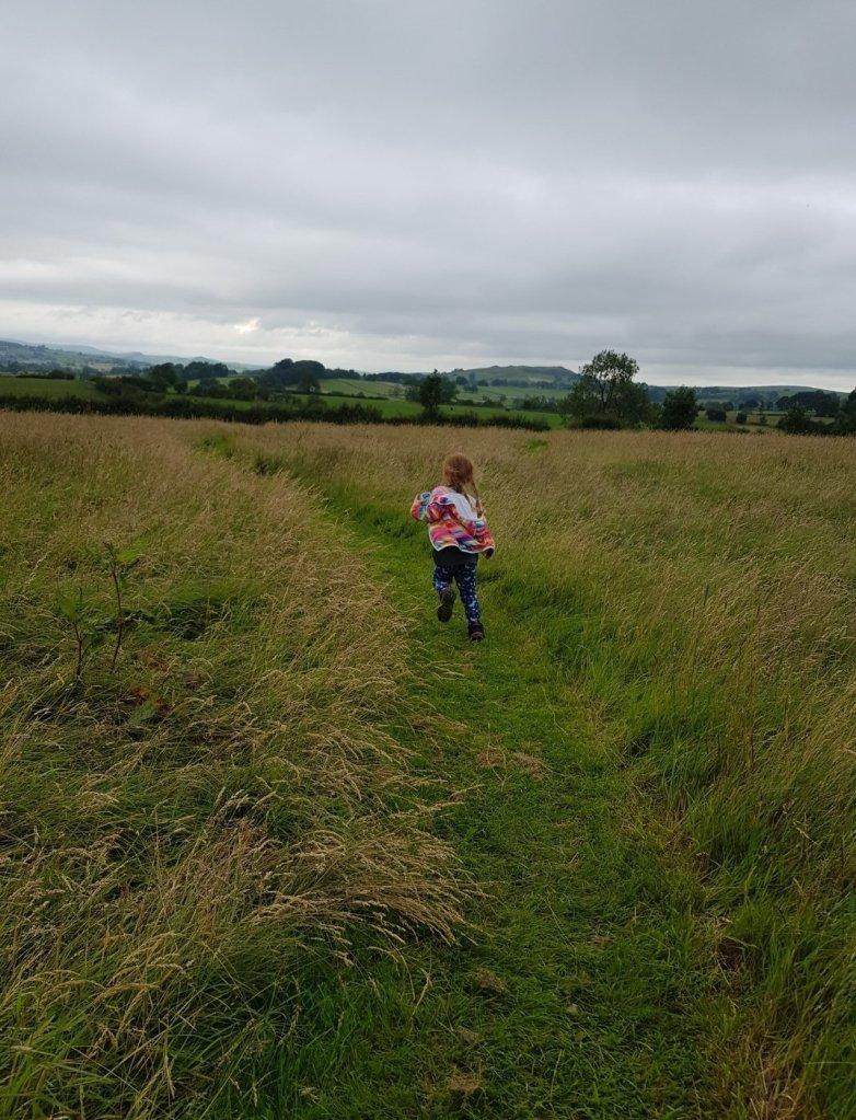 Exploring the surrounding Peak District fields at Upper Hurst Farm