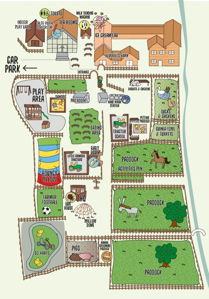 Map of Bluebell Dairy farm