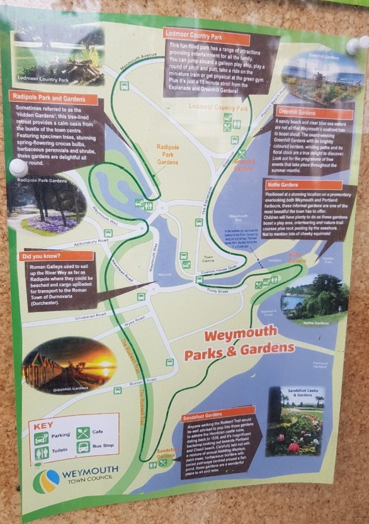 Map of Weymouth Parks and Gardens