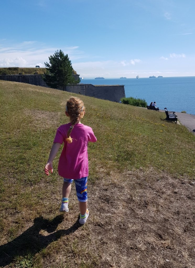 Exploring Nothe Gardens with the stunning views