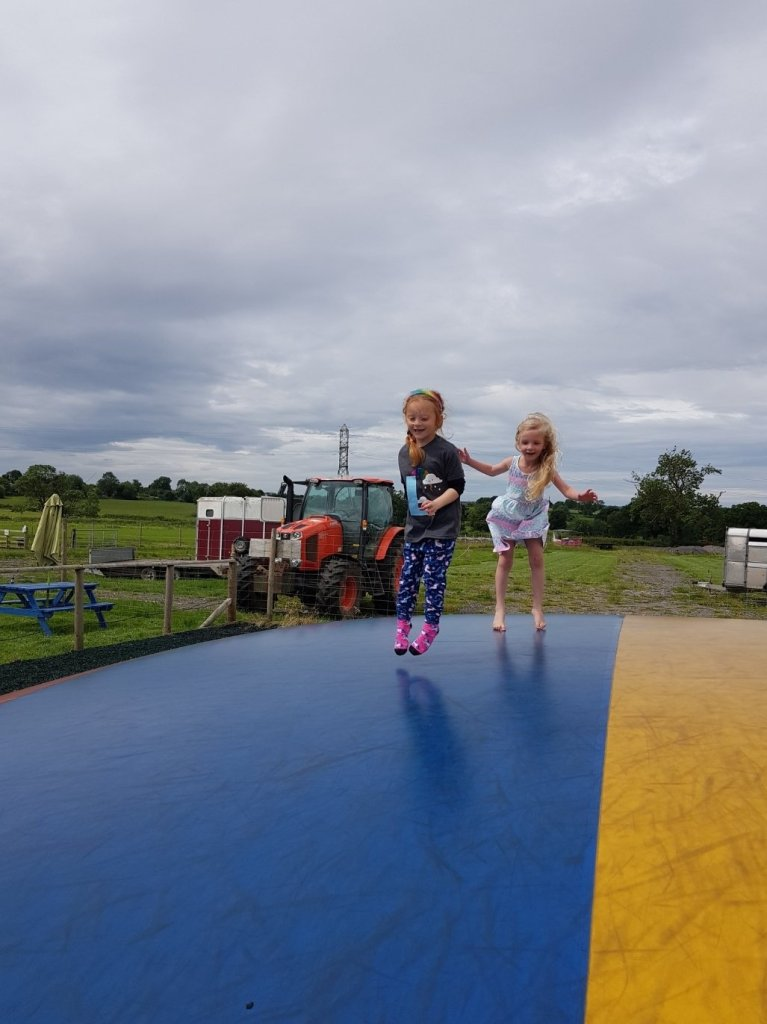 Families / groups have a stripe to stick to on the jumping pillow