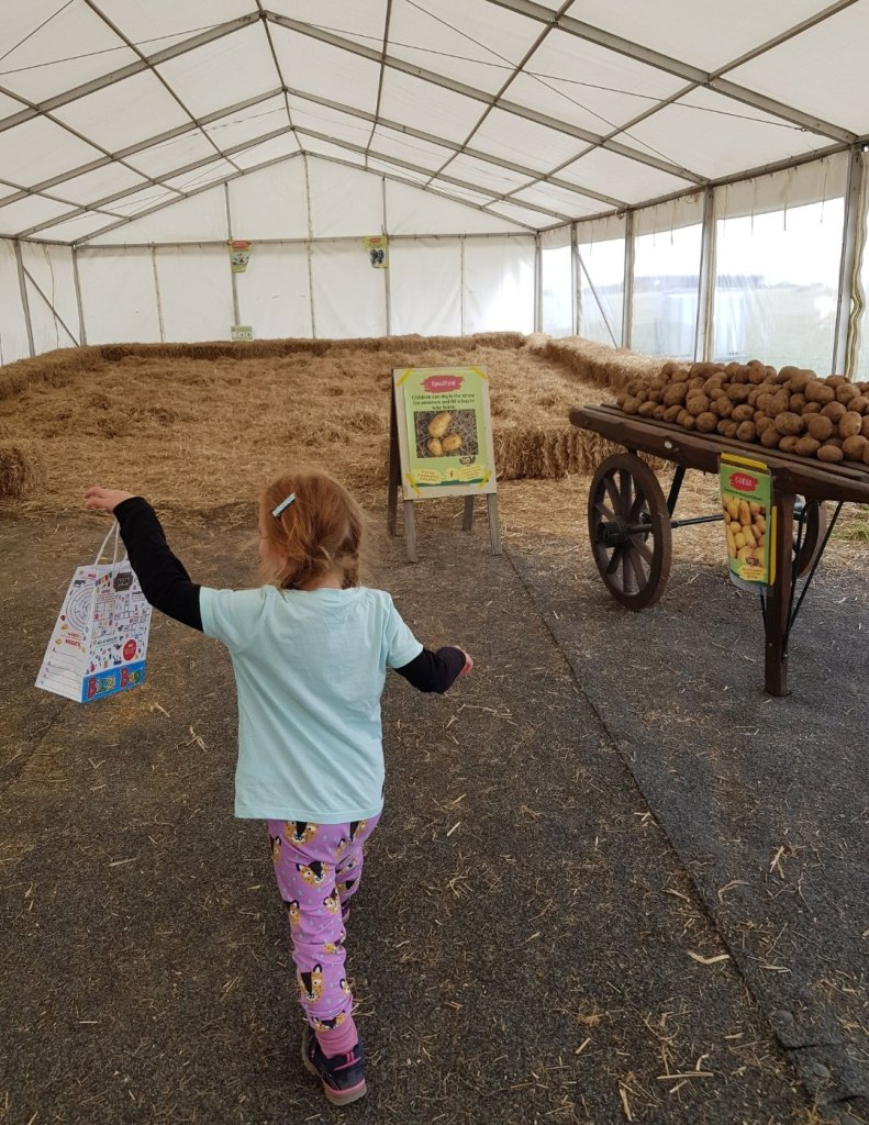 The SpudFest marquee - it was so quiet!