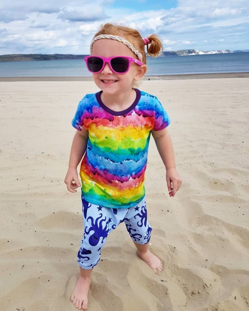 Lily has always loved Weymouth beach
