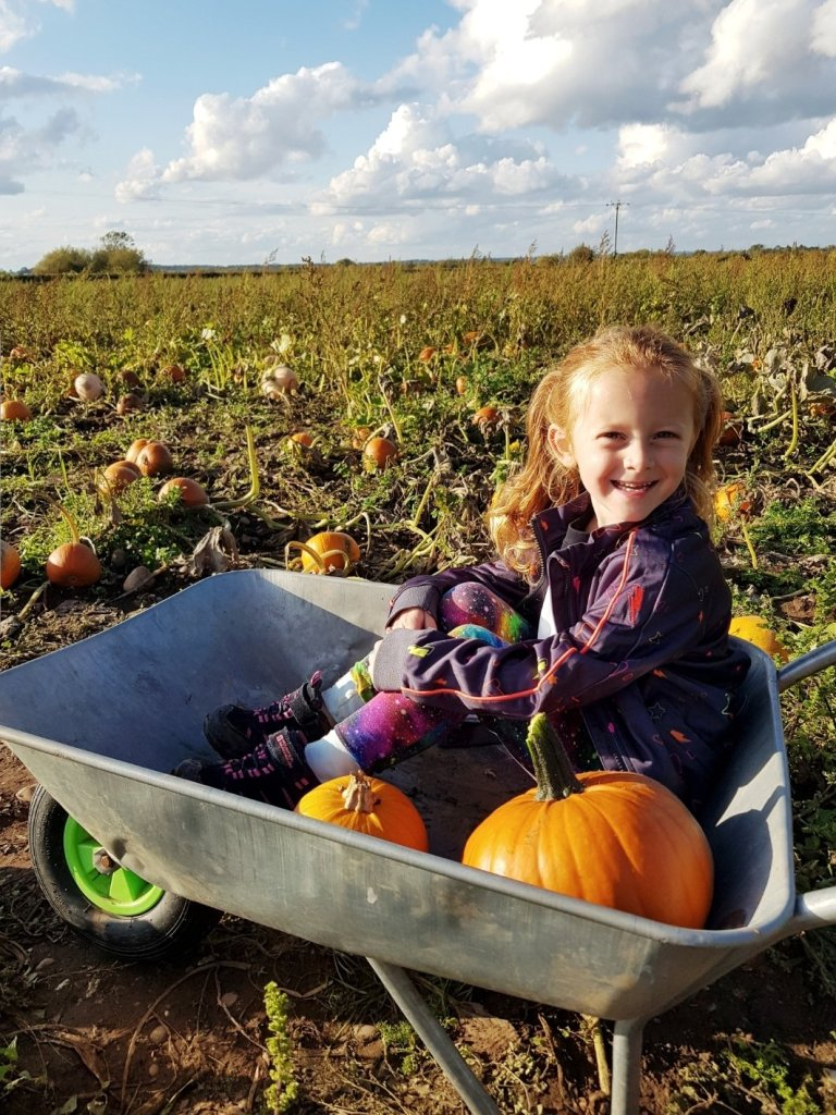 Wheelbarrows are available at Cattows Farm or you can bring your own bag